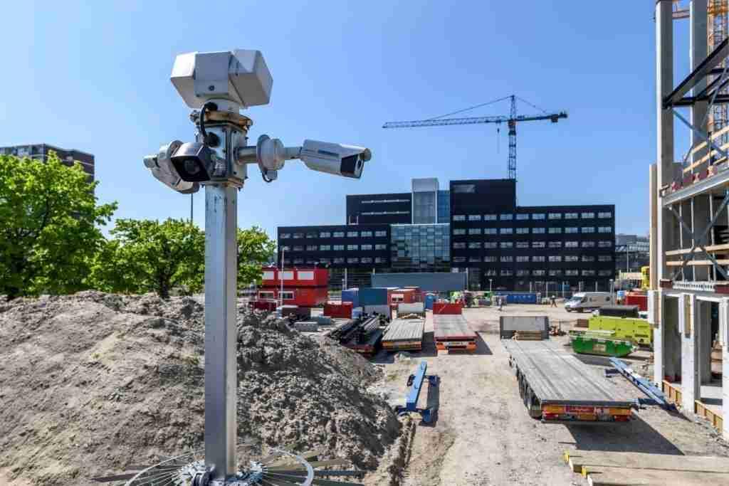 Cameras on top of a VPS Smart Tower