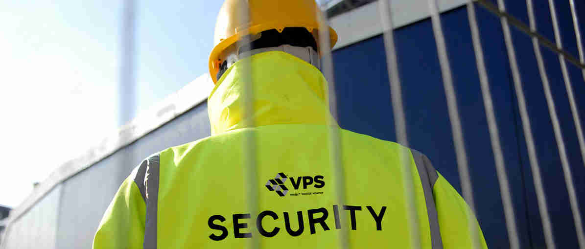 Static guard man in a van