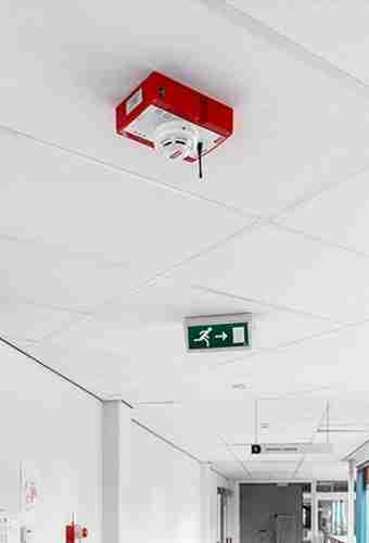 wireless construction site fire safety system
