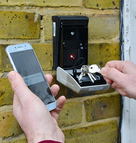 Keys In The Smart Lockbox Key Storage Box