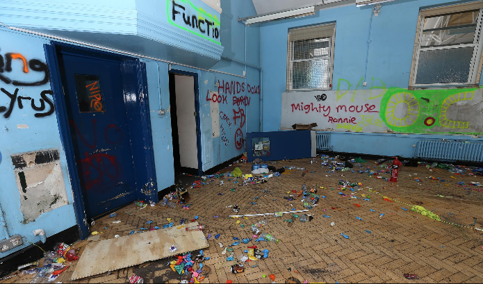 aftermath of a rave can costs £100,000s to remedy