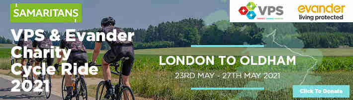 The Samaritans Charity Bike ride May 23rd 2021
