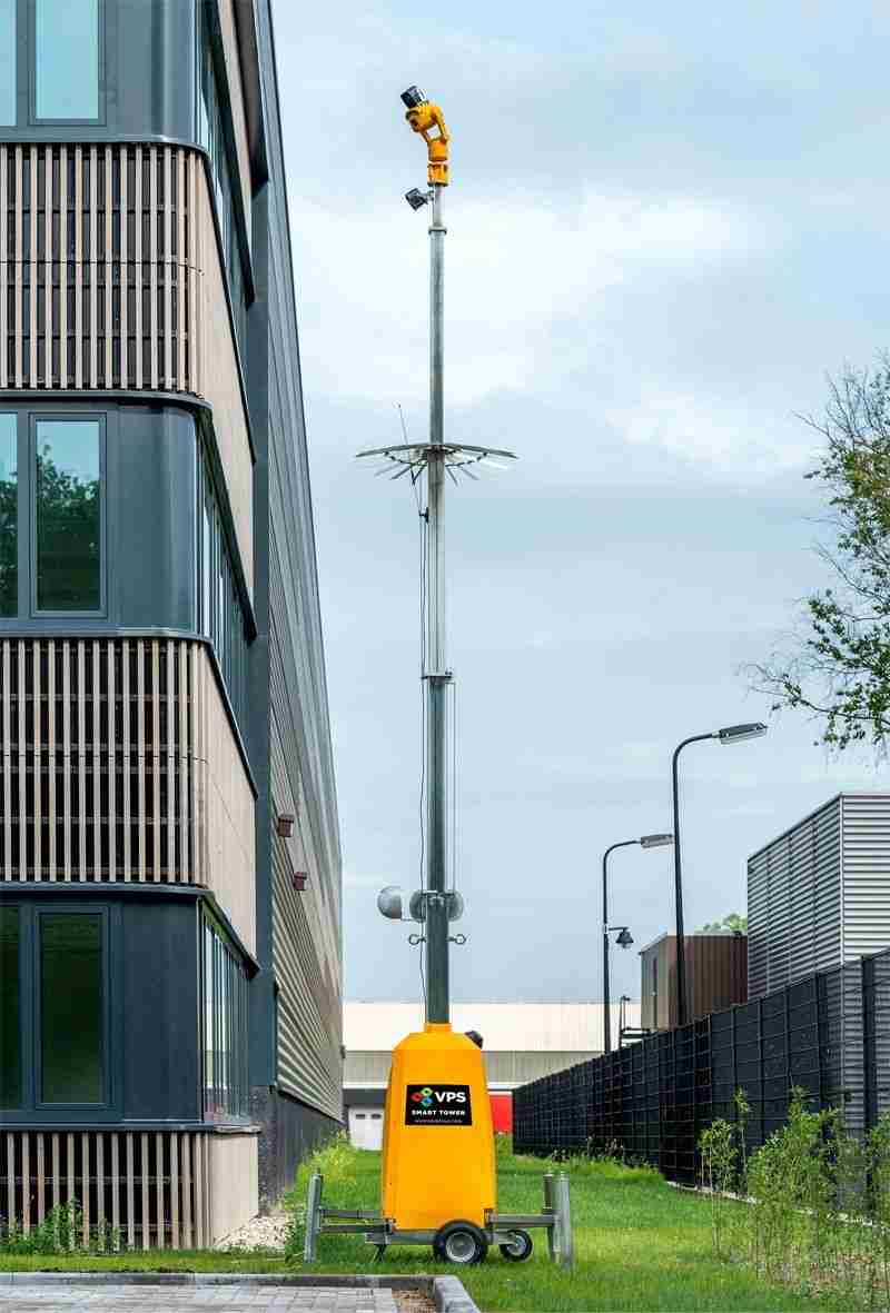 Rapid deployment CCTV Tower for site security