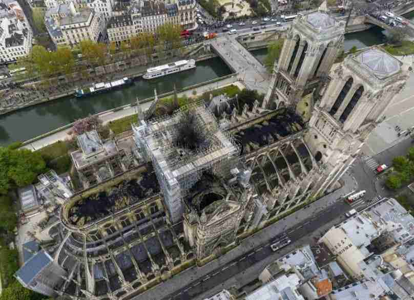 Notre Dame after the fire April 2019